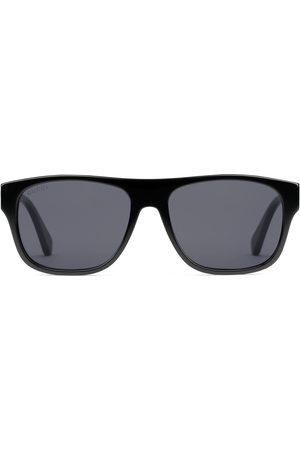 Gucci Mænd Solbriller - Rectangular-frame acetate sunglasses