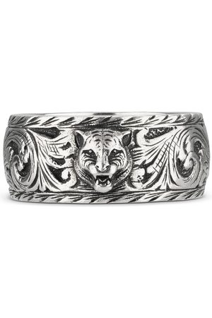 Gucci Ringe - Thin silver ring with feline head
