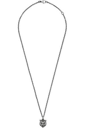 Gucci Necklace in silver with feline head