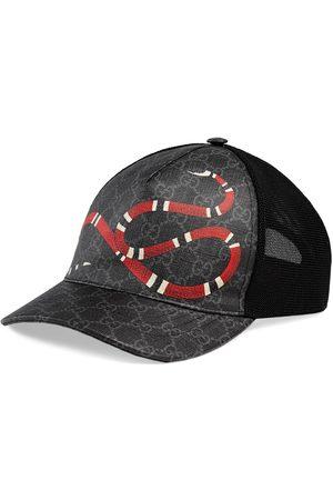 Gucci Mænd Hatte - Kingsnake print GG Supreme baseball hat