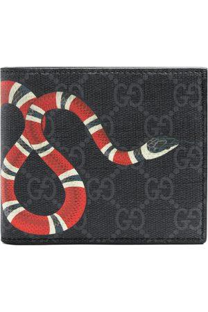 Gucci Mænd Punge - Kingsnake print GG Supreme wallet