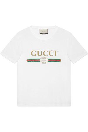 Gucci Mænd Kortærmede - Oversize washed T-shirt with logo