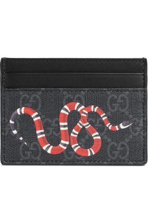 Gucci Mænd Punge - Kingsnake print GG Supreme card case