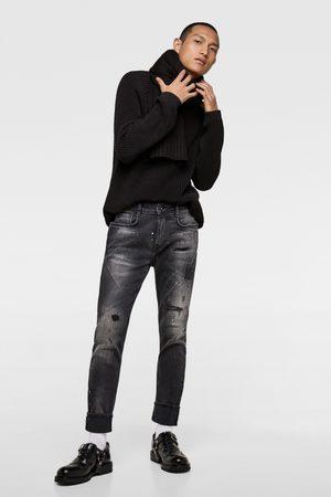 Zara Jeans - HULLEDE JEANS MED LÆG