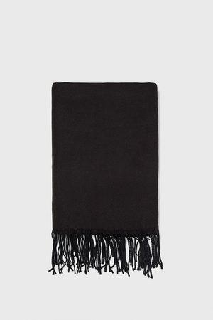 Zara Enkelt tørklæde med frynser