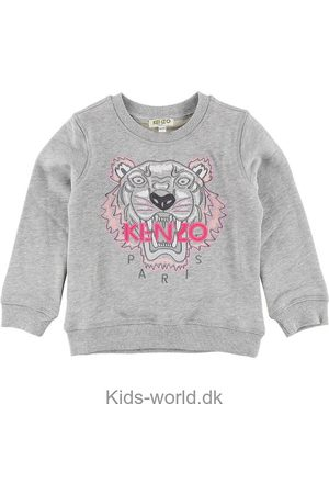 Kenzo Sweatshirt - Gråmeleret m. Tiger
