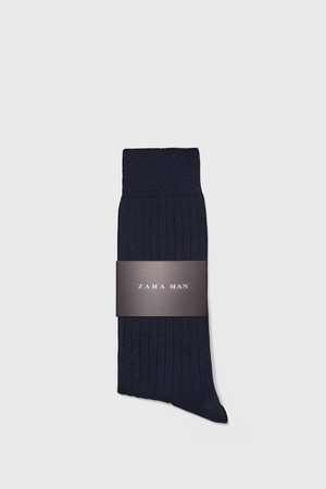 Zara Premium merceriserede bomuldsstrømper i rib