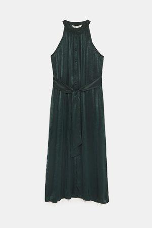 Zara HALTERNECK DRESS WITH BELT