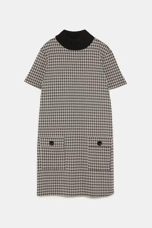 Zara DRESS WITH KNIT COLLAR