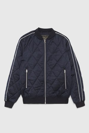 Zara BOMBER JACKET WITH SLEEVE STRIPES