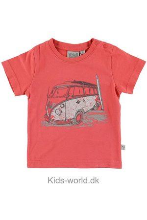 WHEAT Kortærmede - T-shirt - Surf Car - Mørk Koral