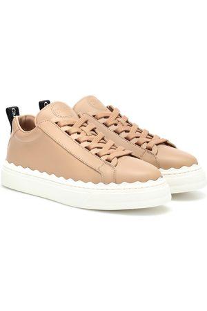 Chloé Lauren leather sneakers