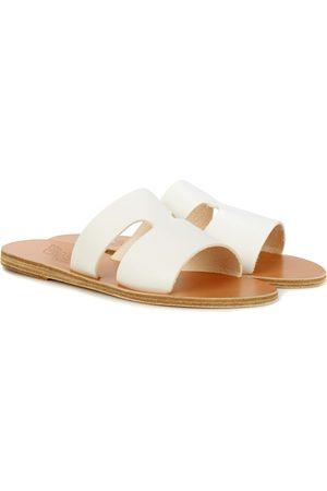 Ancient Greek Sandals Apteros leather slides