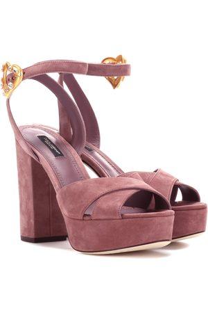 fd20e6209729 Dolce   Gabbana Exclusive to mytheresa.com – suede plateau sandals .