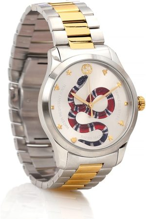 Gucci G-Timeless 38mm stainless steel watch