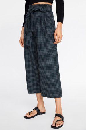 Zara Ternede culottebukser med bindebælte