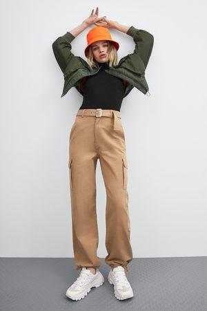Zara Cargobukser med vide ben