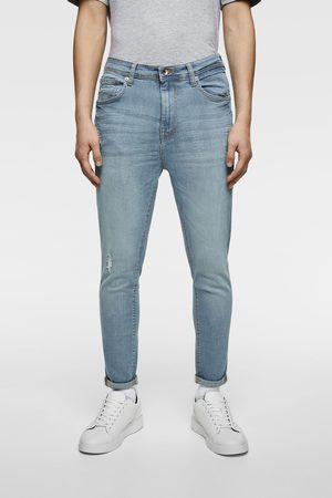 Zara Carrot fit, skinny jeans med huller