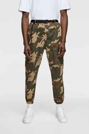 Zara Joggingbukser i soft denim med kamouflage