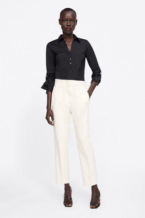 Zara Basic skjorte med lommer