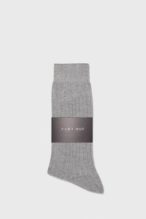 Zara Mænd Strømper & Sokker - Strømper i rib med merceriseret bomuld