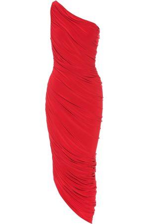 Norma Kamali Diana jersey one-shoulder midi dress