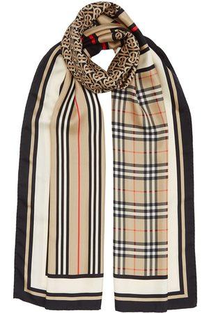 Burberry Ternet tørklæde med monogram og striber