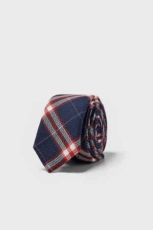 Zara Check slim tie