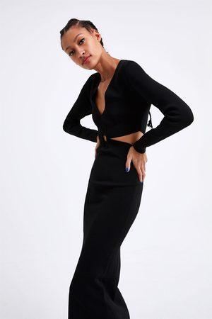 Zara Long knit dress with cut-outs