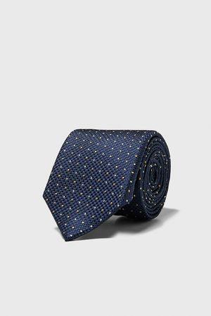 Zara Polkaprikket, jacquardvævet, bredt slips