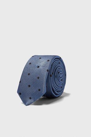 Zara Mænd Slips - Jacquardvævet smalt slips med prikker