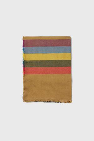 Zara Halstørklæde med striber i kontrast