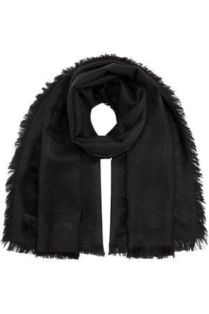 Burberry Stort firkantet tørklæde i silke og uld med monogram