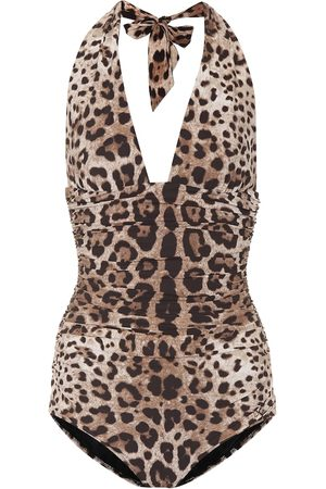 adidas Leopard-printed one-piece swimsuit