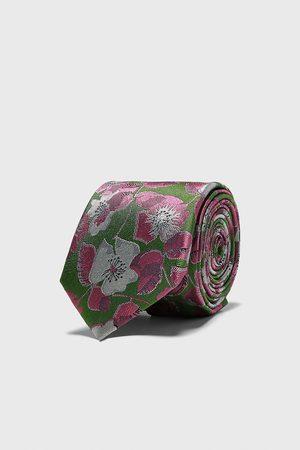 Zara Bredt, blomstret, jacquardvævet slips