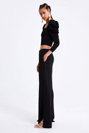 Zara Jacquard bukser med striber
