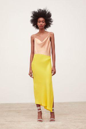 Zara Chemise-kjole med farveblok