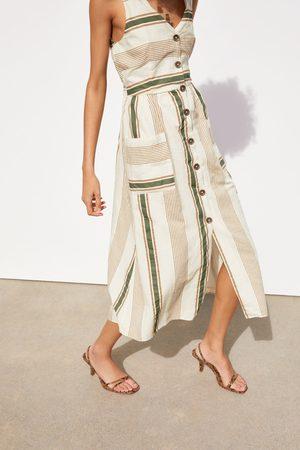 Zara Stribet rustik kjole