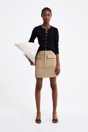 Zara Cardigan med tekstur og rhinsten