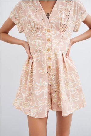 Zara Rustik buksedragt med mønster