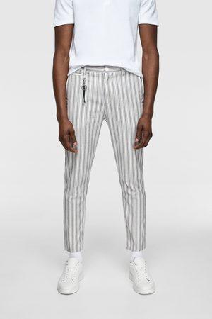 Zara Strukturvævede, stribede bukser