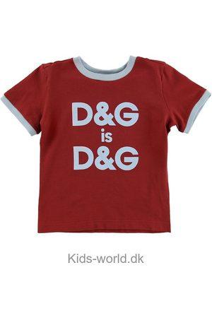 Dolce & Gabbana Kortærmede - T-shirt - m. Blåt Logo