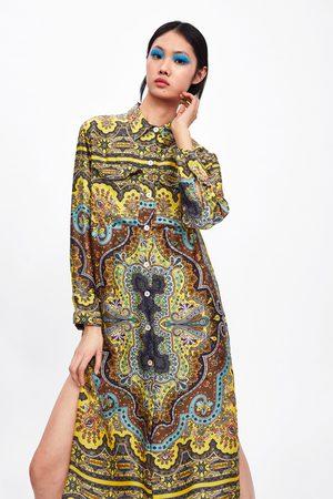 Zara Mønstret tunika med lommer