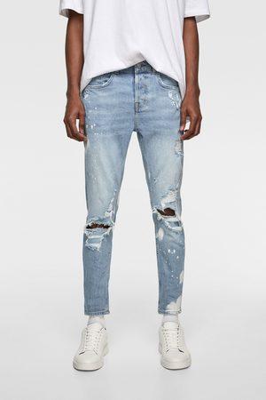 Zara Skinny jeans med splashed-effect