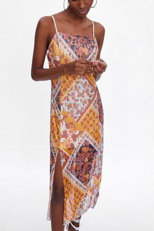 Zara Mønstret kjole med pailletter