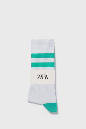 Zara Sokker med rib og farvede striber