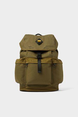 Zara Kakifarvet rygsæk med mange lommer