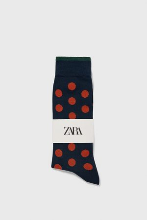 Zara Polkaprikkede strømper