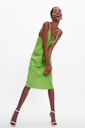 92b3c824776a Kvinder  Mønstrede kjoler  Zara. Zara Mønstret kjole med stropper
