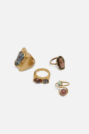 Zara Pack of stone rings